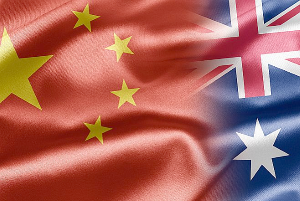 chinese investment australia flags
